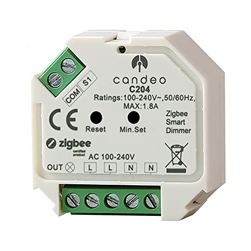 Candeo Zigbee Dimmer Module no neutral required, compatible with Amazon...