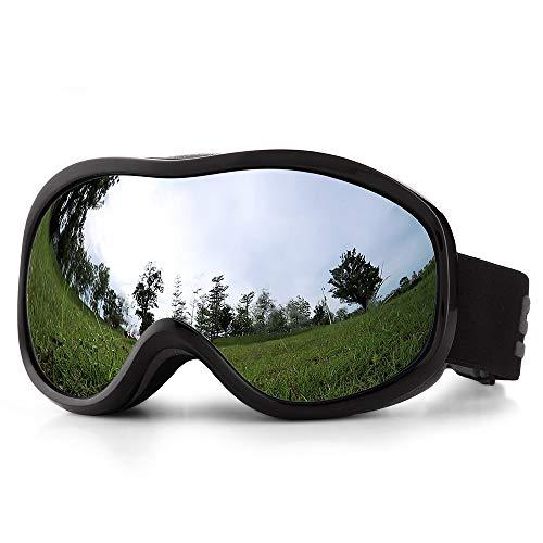 Lixada Skibril Ski Snowboardbril Dual Lens anti-condens anti-glare UV400 veiligheidsbril voor mannen vrouwen