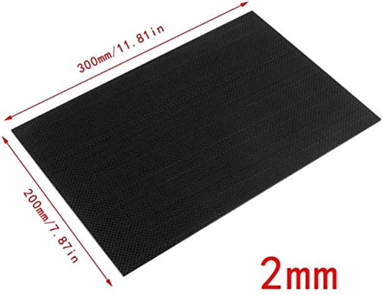 Laliva 100% Real Glossy Carbon Fiber Plate Panel Sheet 3K Plain Weave 200x300x3mm  (color  9LL3002002Y)