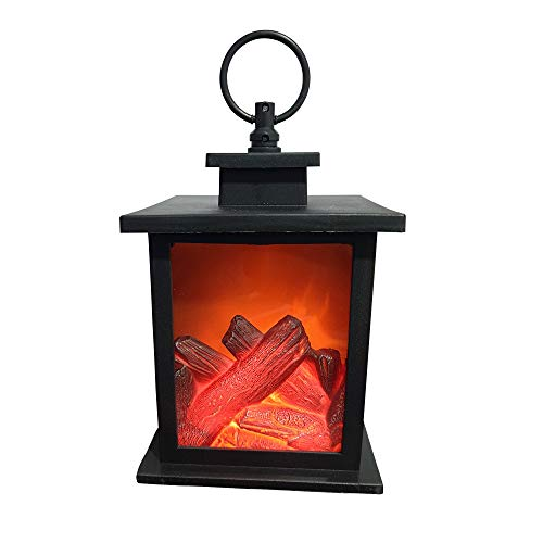 LED Elektro Kamin warm weißen LEDs und imitiertes Feuer Flackern als Effekt Wandkamin Tischkamin Tisch Kamin Elektrokamin Dekokamin Weihnachten Kamin Elektro (Klein)