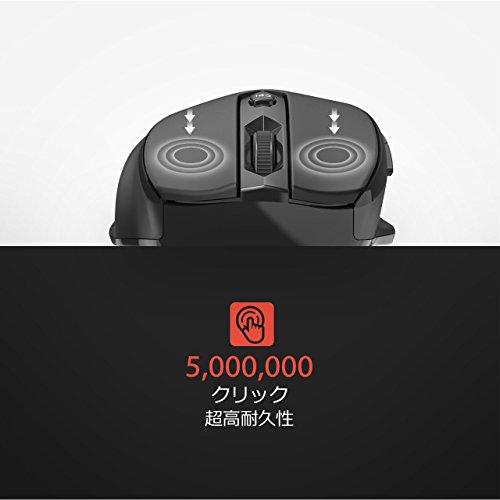 Qtuo2.4Gワイヤレスマウス無線マウス5DPI(800-1200-1600-2000-2400)高精度ボタンを調整可能ブラック
