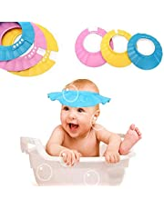 Jeval New Adjustable Safe Soft Bathing Baby Shower Cap, Wash Hair for Children, Baby Eye Ear Protector While Bathing Shower/Shamoo Pack of 1 Baby Shower Cap