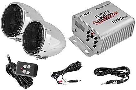 pyle motorcycle two 3 inch speakers, 100 watt, all-terrain, weatherproof  speaker