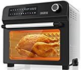 """10-in-1 Toaster Oven Air Fryer Combo with Rotisserie & Dehydrator, 24Qt XL Countertop Convection Oven for 12"""" Pizza, Small Footprint Oil-less Digital Cooker, Bake, Broil, Toast, Roast, Grill, 1700W"""