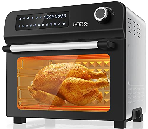 10-in-1 Toaster Oven Air Fryer Combo with Rotisserie & Dehydrator, 24Qt XL Countertop Convection...