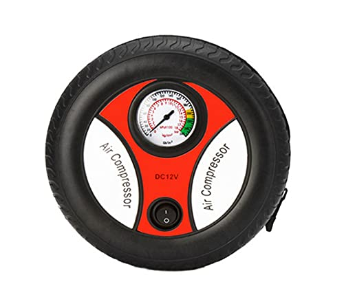 Inflador de neumáticos de coche, bomba de neumáticos de coche, compresor de aire portátil de neumáticos de coche, inflador de neumáticos con manómetro, apto para automóviles domésticos