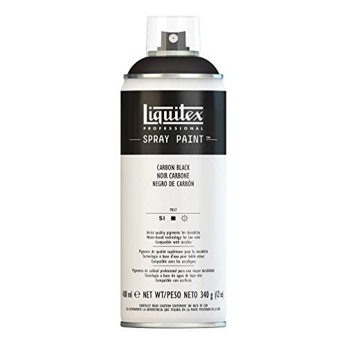 Liquitex Professional Spray Paint - Acrylfarbe, Farbspray auf Wasserbasis, lichtecht, 400 ml - Karbonschwarz