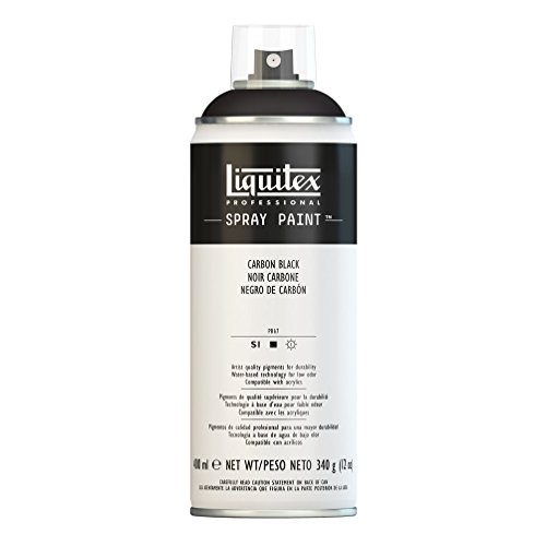 Liquitex Professional - Acrílico en spray, 400ml, negro carbon