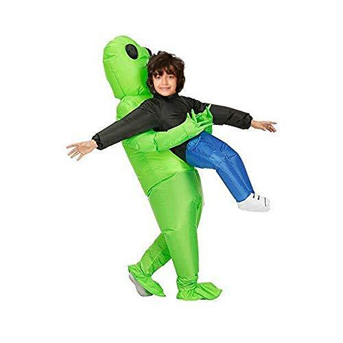 COOTA Costume de licorne gonflable pour enfants et adultes - Vert Alien portant des costumes humains Costume gonflable amusant - Costume de cosplay-costume de Noël, Halloween, carnaval