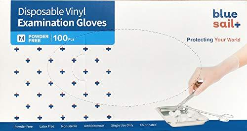 Einmalhandschuhe Vinyl Weiss puderfrei, Größe M, 100-er Pack