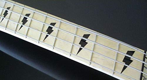 Lightning Bolt Fret Markers Stickers Inlay Gitarre & Bass Aufkleber Diapason Gitarre Schwarz