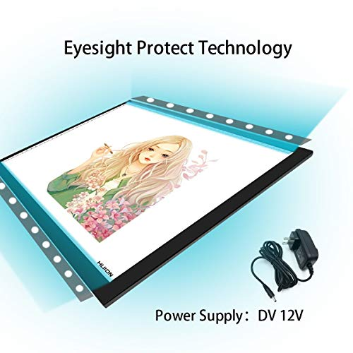 Huion A3 Thin Light Box LED Light Pad Light Tracer for Artcraft Tracing Animation Drawing Sketching Calligraph