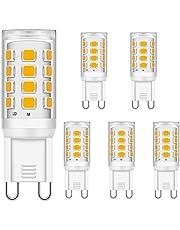 Brantoo G9 led-gloeilampen, 3 W, neutraal wit, 4000 K, komt overeen met 15 W, 20 W, 25 W, 28 W, 33 W, halogeen gloeilampen, energiebesparend ledlamp, flikkert niet, niet dimbaar, 320 lm, AC 220 - 240 V, verpakking van 5 stuks
