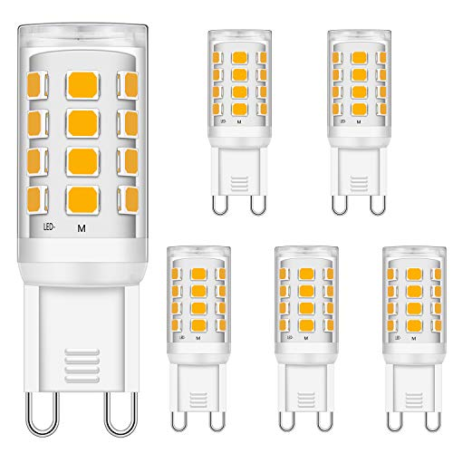 G9 LED Glühbirnen 3W Entspricht 15W 20W 25W 28W 33W Halogen Glühbirnen, weich Warmweiß 2700K, 320LM, CRI> 85, G9 Sockel Energie sparen LED Lampe, kein Flimmern, nicht dimmbar, AC 220-240V, 5er Pack