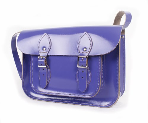 Leather Satchel's, Cartable mixte adulte Patent Purple