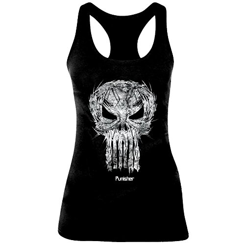 The Punisher Skull Sketch Top donna nero M