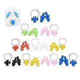 RETON Set Tappi per Orecchie e Clip per Naso in Silicone Multicolor per Bambini, Set di 10