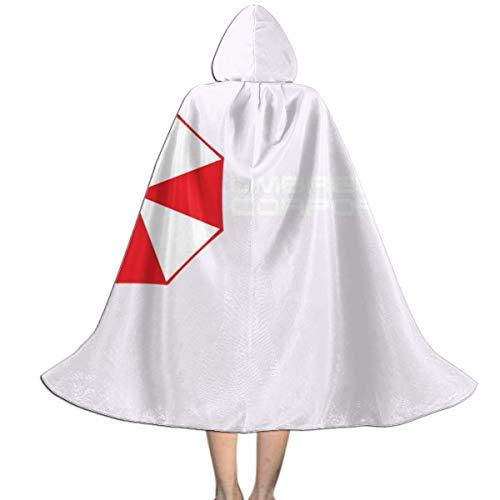 NUJSHF Resident Evil Umbrella Corporation Logo, Trucker Cap weiß/schwarz Unisex Kapuzenumhang Umhang Cape Halloween Weihnachten Party Dekoration Rolle Cosplay Kostüme
