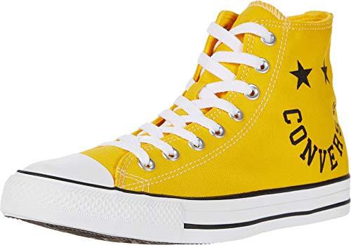 Converse Chuck Taylor All Star High Top Sneaker, Smiley Amarillo, 6 Women/4 Men US