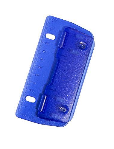 Perforatrice à 2trous bleue, GeniePP-2 (à attacher dans les classeurs, cisaillage par métal, avec règle de 12cm)