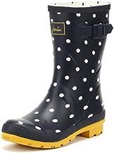 Joules Women's Molly Welly Rain Boot, French Navy spot, 4 Medium UK (6 US)
