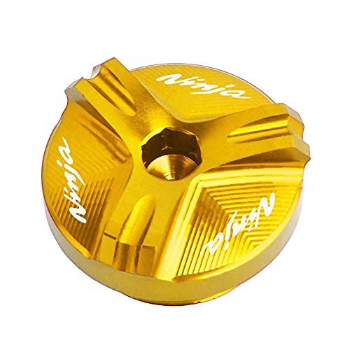 Tornillo de Cubierta de tapón de tapón de tapón de Aceite de Aceite para Kawasaki Ninja 25 0R 300 500R 600R 750R ZX750 ZX6R ZX10R ZX12R ZX14R Z750 Z1000 Vulcano (Color : Gold)