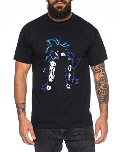 Super Son Goku Back Herren T-Shirt Goku Dragon Master Son Ball Vegeta Turtle Roshi Db, Farbe:Schwarz;Größe:4XL