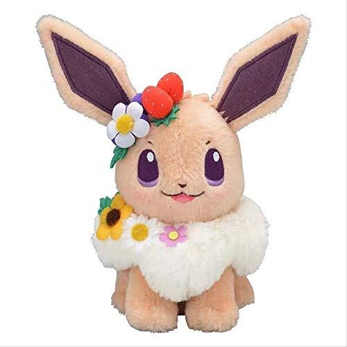 DINGX Anime Pikachu Eevee Plüschtier Kawaii Weiche Tierfüllte Puppe, Für Kinder Geburtstag Sammlung Geschenk 20cm Pikachu Plüsch Chuangze