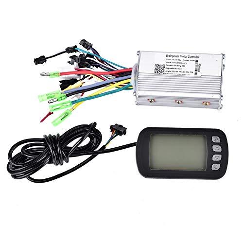 Broco Controlador Bici Electrica, Controlador de Motor 36V / 48V 350W sin escobillas con el Panel LCD for E-Bici eléctrica Vespa de la Bici