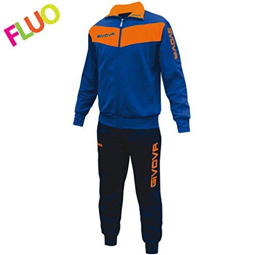 Givova, anzug visa fluo, hellblau/orange fluo, XL
