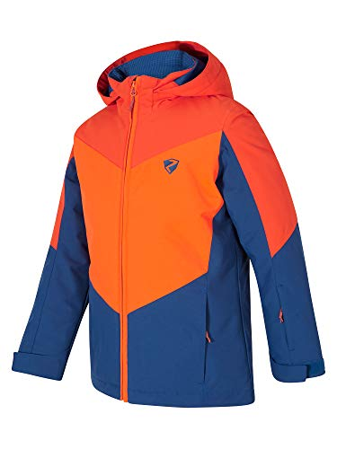 Ziener Jungen AVAN jun (jacket ski) Kinder Skijacke, Winterjacke/Wasserdicht, Winddicht, Warm, Nautic, 140