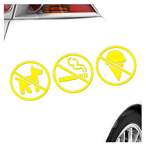 Sticker Disponible en 3 tailles,, animaux plats interdit de fumer – pare-brise arrière carsticker Decal