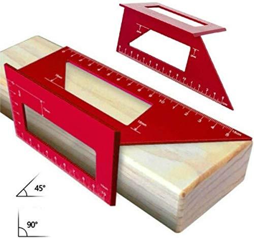 CarAngels アルミ製 木工ケガキゲージ 45度・90度定規 直角定規 スコヤ 大工ケガキ工具