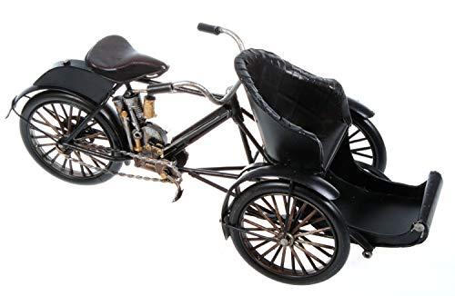 Schick-Design Fahrrad Rikscha aus Metall 27 cm Fahrradtaxi Oldtimer Nostalgie Blech Modell Post Rad Velo Fahrrad