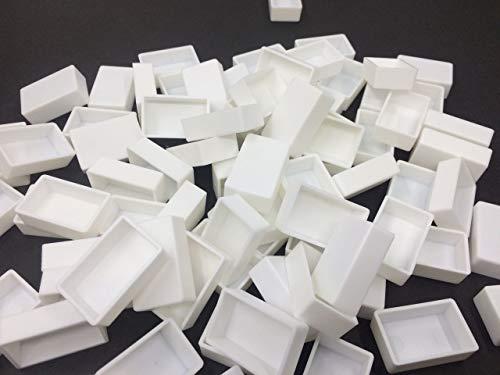 Art&Beauty White Plastic Empty Watercolor Paint Pans_48pcs Full Pans