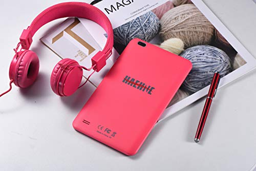 Haehne Tablet PC 8 Zoll - Android Tablet 1280x800 HD, Google Android 9.0 System, Zwei Kameras, Quad Core 1GB+16GB, GMS Zertifiziertes, Rosa
