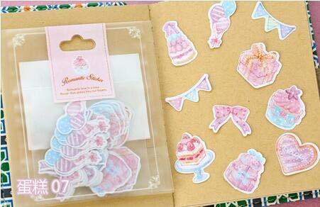 70 Stück/Beutel Koreanische Aufkleber Kawaii Heart Star Dekorative Aufkleber DIY ScrapbookingAquarell Papier Aufkleber Dekoration für Tagebuch