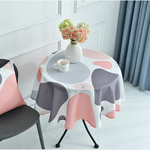 WSJIABIN Home Decoration Waterproof and Oil Proof Restaurant Hotel Home Nordic Style Tablecloth Simple Round Table Cloth