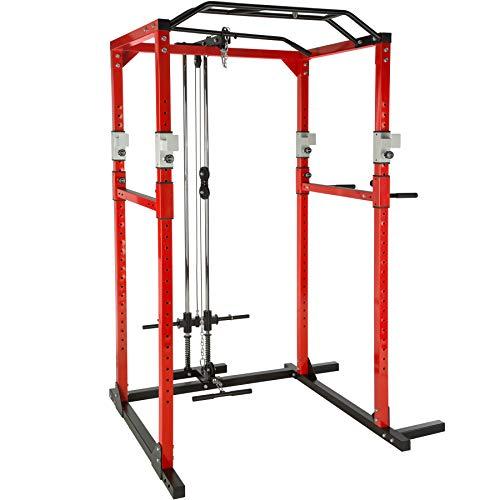 Station de Musculation, Double Barre de Traction, Cadre Stable en...
