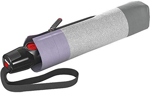 Knirps T.200 Duomatic, Popy Purple (Grau / Rosa), 98 cm
