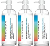 3 Bottle Economy Pack 16.9 oz 70% Alcohol Instant Hand Sanitizer FDA Registered, Clean and Fresh. Dries fast, No Sticky Residue. Kills 99.9% Of Germs, Viruses & Bacteria. Locking Pump Bottle.