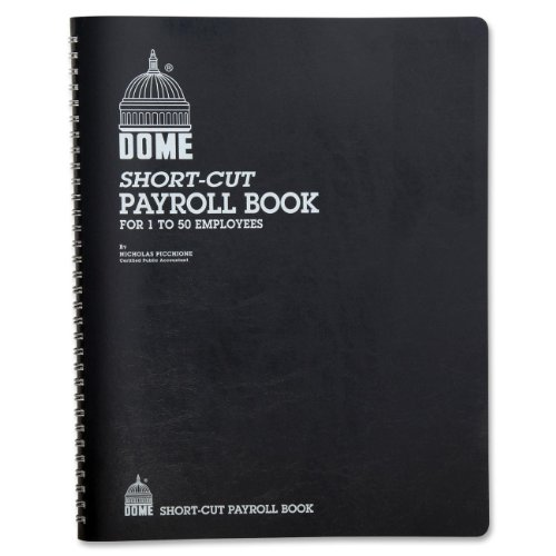 Dome 650 Payroll Record, Single Entry, 1-50 Employees, 11-1/4x8-3/4, Weekly, wirebound