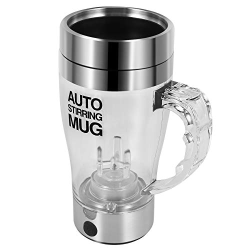 CURTT Vaso autoagitador eléctrico automático para café o té mezclado tazones de viaje doble aislado