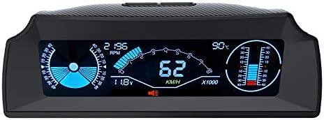 AUTOOL Car Angle Slope Meter Car Inclinometer Level Tilt Gauge with OBDII Speedometer MPH KMH product image