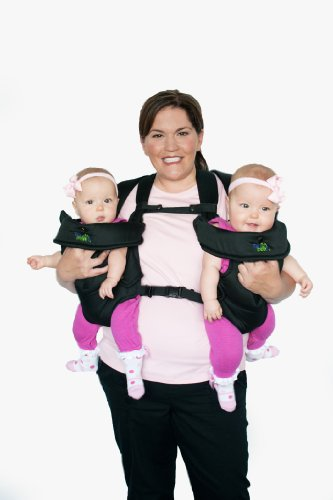 Stuff 4 Multiples TwinTrexx 2 Twin Baby Carrier, Black