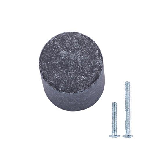 Amazon Basics - Pomo de armario, con forma de silbato, 1,9 cm de diámetro, Plata envejecidado, Paquete de 25