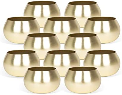 Gold Tea Light Candle Holders Gold Votive Candle Holders Matte Gold Candle Holders Candle Holders product image