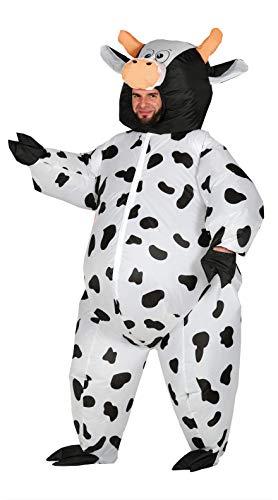 Fiestas Guirca Kostüm Kuh aufblasbar Mann Frau grÖsse l