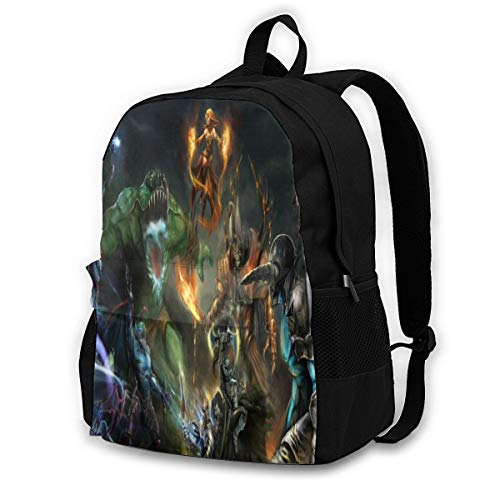 Shanxixuantongsheng Tradin Dota 2 School College Bookbag Students Backpack Fits 15.6 Inch Laptop