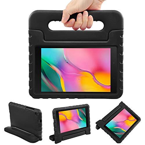 NEWSTYLE Funda para Galaxy Tab A 8.0 2019 SM-T290/T295,Extra Resistente a Prueba de caídas Fabricada en EVA con 2 en 1 Llevar y como Soporte para niños (Negro)